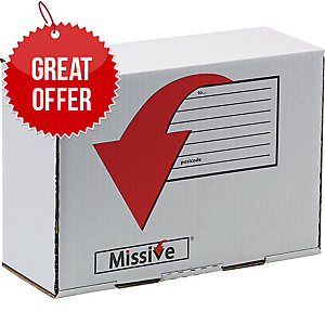 Missive Value Small Parcel Postal Box  Shoe/Ankle Boot Box Size 350X250X160mm -