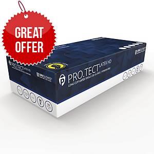 Pro-Tect PT02 Latex  PowderFree Disposable Gloves Blue Medium (Box of 50)