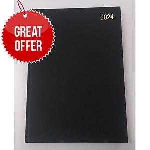 Lyreco A4 Desk Diary Black - 2 Days A Page