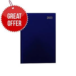 Lyreco A5 Desk Diary Blue - 2 Days A Page
