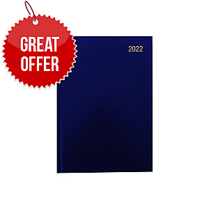LYRECO A5 DESK DIARY BLUE - WEEK TO VIEW