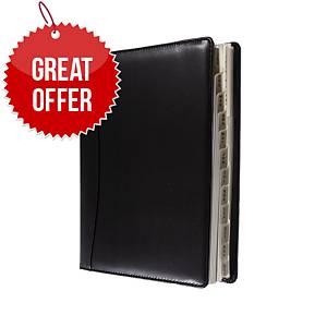 Collins Elite Quarto Wirobound Diary Black - Week To View