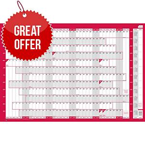 Sasco Unmounted Original Year Planner - 915 X 610mm