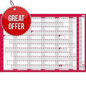 Sasco Unmounted Compact Landscape Year Planner - 610 X 405mm