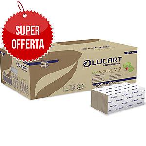 Asciugamani piegati a V Eco Natural Lucart - conf. 20 pacchi da 190