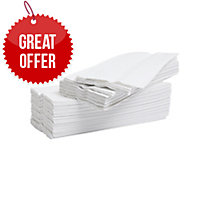LYRECO WHITE 2 PLY C-FOLD HAND TOWELS - PACK OF 2376