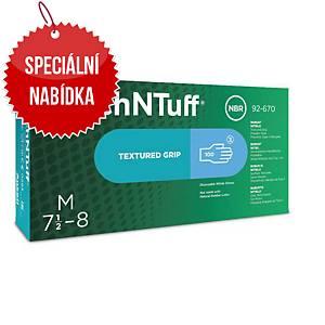 Jednorázové nitrilové rukavice Ansell TouchNTuff® 92-670, velikost 9.5-10, 100ks