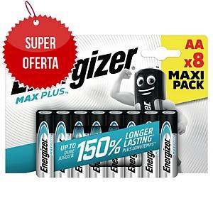 Baterie alkaliczne Energizer MAX PLUS AA, 8 szt.
