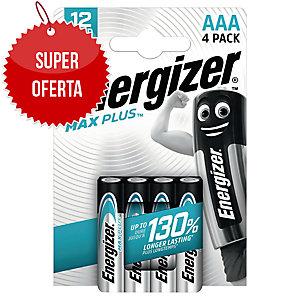 Baterie alkaliczne Energizer MAX PLUS AAA, 4 szt.