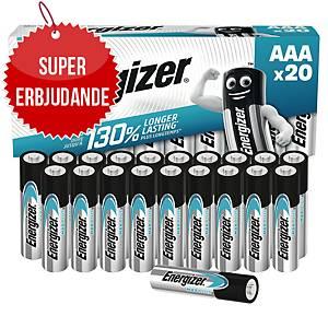 Batterier Energizer Alkaline Max Plus AAA, förp. med 20 st.