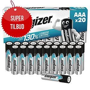 Batterier Energizer Alkaline Max Plus AAA, pakke à 20 stk.
