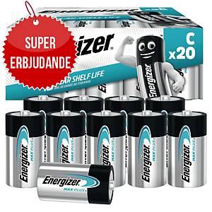 Batterier Energizer Alkaline Max Plus C, förp. med 20 st.