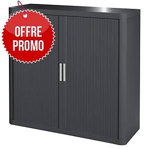 Armoire à rideaux Paperflow Easy Office - 104 x 110 cm - anthracite