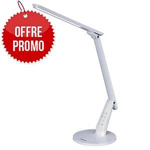 Lampe Aluminor Zig avec port USB - LED - bras flexible - blanche