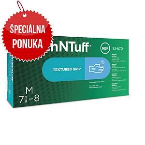 Jednorazové nitrilové rukavice Ansell TouchNTuff® 92-670, veľkosť 7.5-8, 100ks