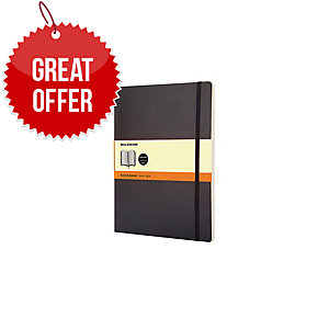 MOLESKINE QP621 SOFT COVER NOTEBOOK XL RULED BLACK