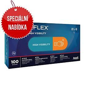 Jednorázové nitrilové rukavice Ansell Microflex® 93-856, velikost 6.5-7, 100ks