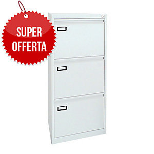 Classificatore per cartelle sospese Kubo Bertesi 3 cassetti in metallo bianco