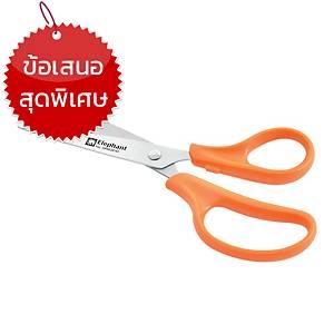 ตราช้าง กรรไกร รุ่น VALUE   7 นิ้ว สีส้ม