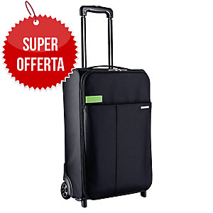 TROLLEY A 2 RUOTE SMART TRAVELLER LEITZ DIMENSIONI DA CABINA NERO