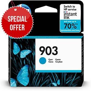 HP 903 Cyan Original Ink Cartridge (T6L87AE)