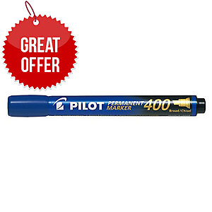 Pilot Sca 400 Blue Permanent Marker Chisel Tip - Box Of 12