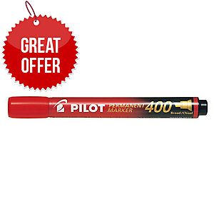 Pilot Sca 400 Red Permanent Marker Chisel Tip - Box Of 12