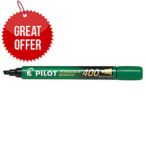 Pilot Sca 400 Green Permanent Marker Chisel Tip - Box Of 12