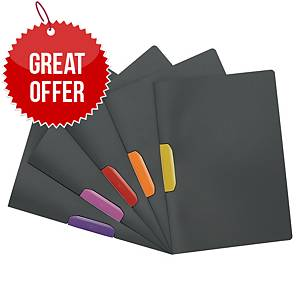 Durable Duraswing A4 Presentation Folder Assorted - Pack of 5