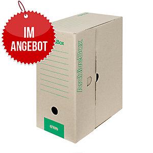 Emba Archivschachteln tragbar 330x260x150 mm A4, naturbraun, 20 Stück