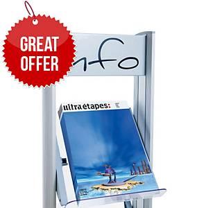 Paperflow 4 Shelves Plexiglas For Mobile Display