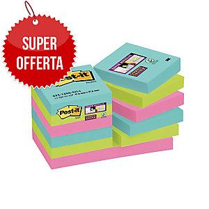 FOGLIETTI POST-IT® ADESIVO SUPER STICKY 47,6 X 47,6MM MIAMI -12 BLOCCHETTI