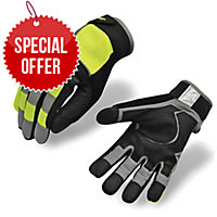 SAFETYMATE MECDEX MECHANICAL GLOVE LARGE YELLOW - PAIR