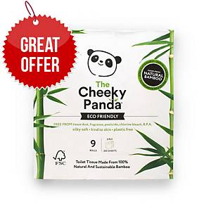 Cheeky Panda Bamboo 3 Ply Toilet Roll - Pack Of 9