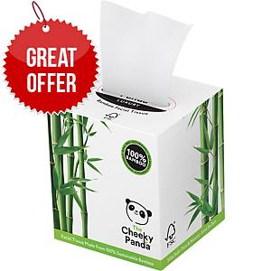 Cheeky Panda 3 Ply Facial Tissues - Cube of 56 Sheets