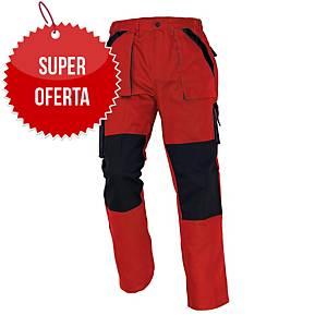 Spodnie CERVA MAX CLASSIC, czerwono-czarne, rozmiar 52