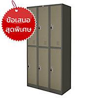 ZINGULAR ตู้ล็อคเกอร์เหล็ก ZLK-6106 6 ประตู เทาสลับ
