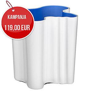 Iittala Aalto maljakko 200mm Duo valko-ultramariinin sininen