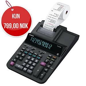 Utskriftskalkulator Casio FR-620RE, sort, 12 sifre