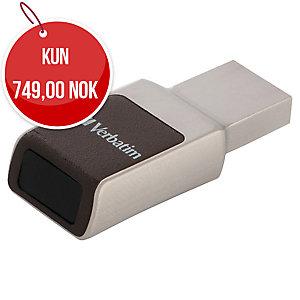 usb VERBATIM fingeravtrykk 3.0 32 GB