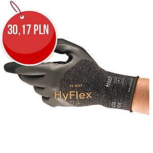 Rękawice ANSELL Hyflex® 11-937, czarne, rozmiar 8, para
