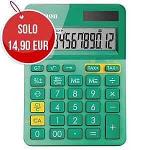 Calcolatrice da tavolo Canon LS-123K 12 cifre verde