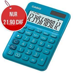 Tischrechner Casio MS-20UC, 12-stellige Anzeige, blau