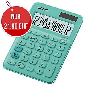 Tischrechner Casio MS-20UC, 12-stellige Anzeige, grün