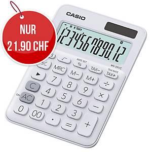 Tischrechner Casio MS-20UC, 12-stellige Anzeige, weiss