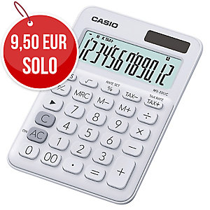 CALCULADORA DE SOBREMESA CASIO MS20UC DE 12 DÍGITOS DE COLOR BLANCO