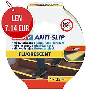 Protišmyková páska na schody tesa® 55580, 25 mm x 5 m, fluorescenčná