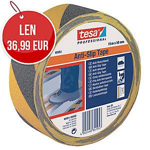Protišmyková páska na schody tesa®, 50 mm x 15 m, čierno-žltá