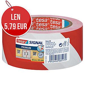 Označovacia PVC páska tesa® SIGNAL PREMIUM 58131, 50 mm x 66 m, bielo-červená