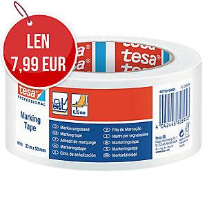 Označovacia lepiaca páska tesaflex® 60760, 50 mm x 33 m, biela